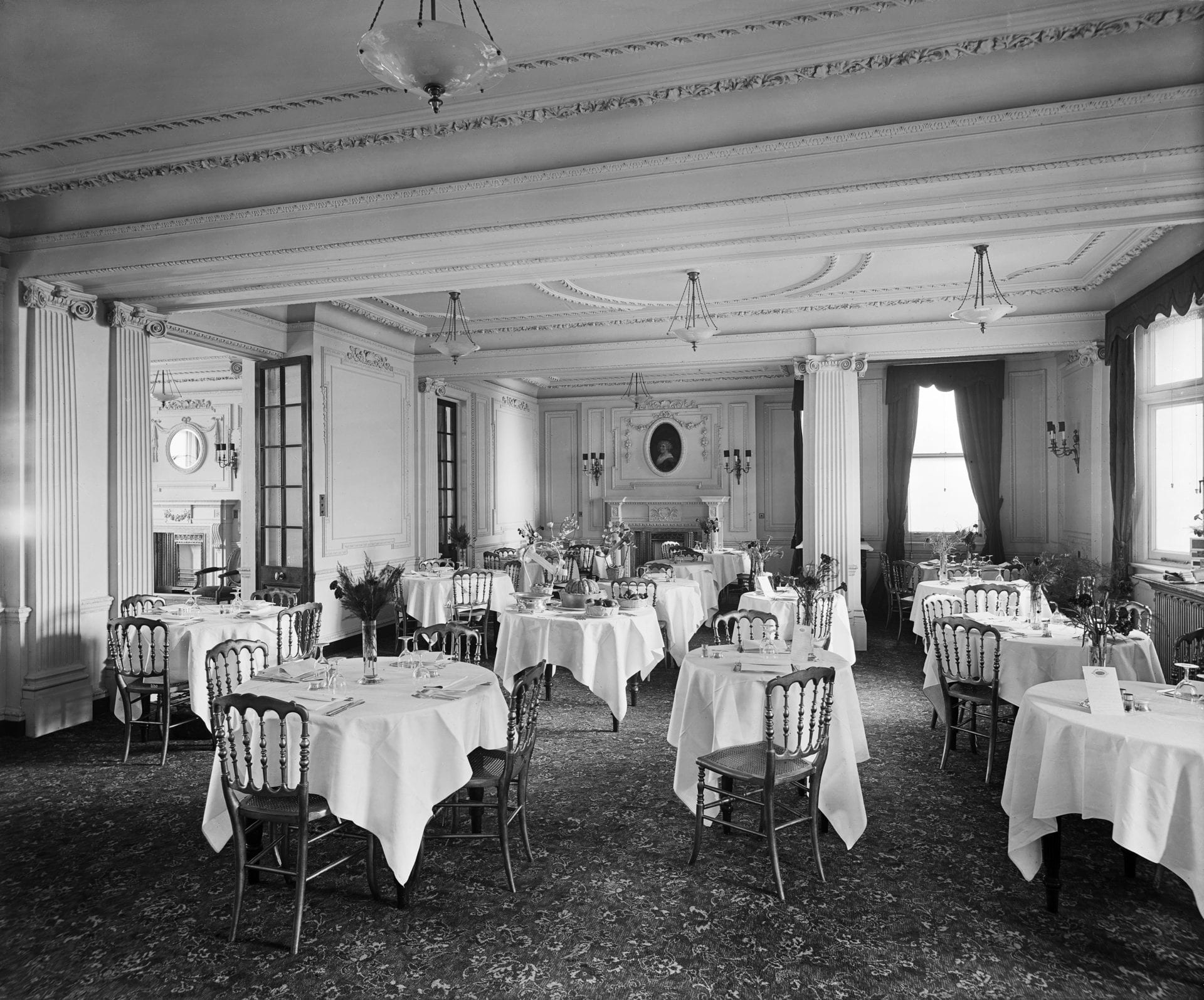 Historical dining room of the Stafford London Hotel