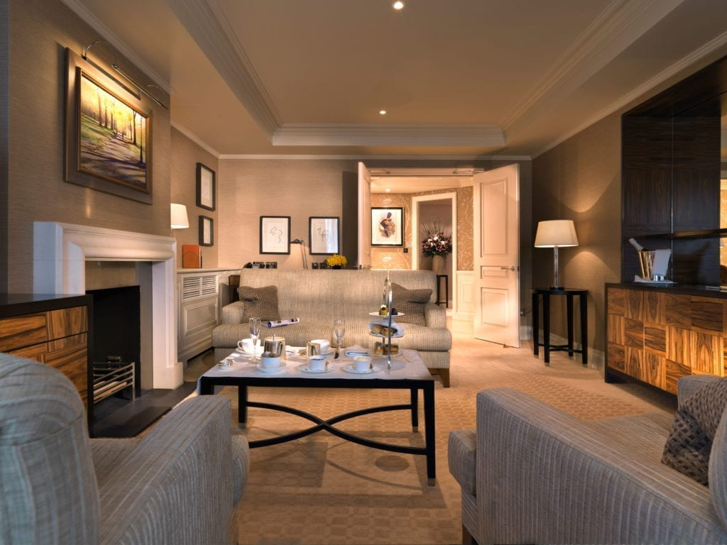 The Stafford London Mews Master Suite Living Room